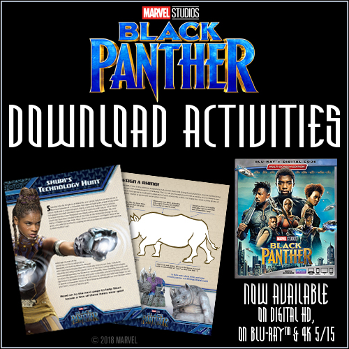 Printables Fun Facts And Activity Pack from MARVEL Black Panther movie