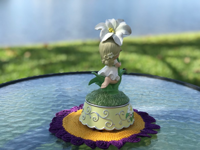 gifts women want, Girl with Lily Flower Precious Moments Bisque Figurines for moms and collectors