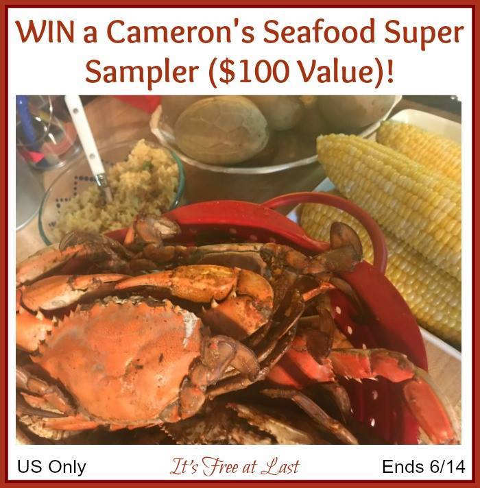 Camerons Seafood sampler with Maryland blue crab