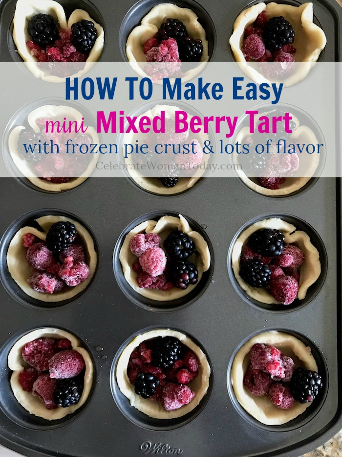 Easy mixed berry mini tart recipe with raspberry and blackberry