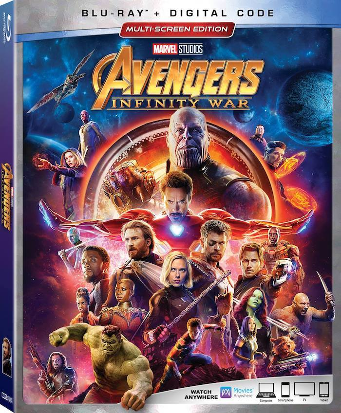 Brilliant MARVEL Cast in AVENGERS: INFINITY WAR Characters and Actors on Blu-ray DVD Multi-Screen Edition