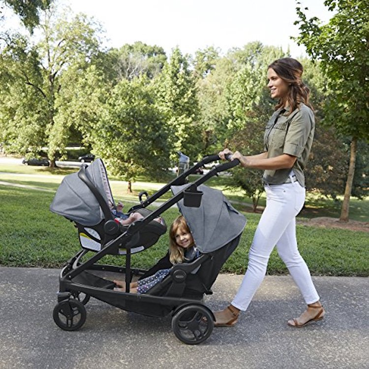 A unique baby stroller travel system for babies and toddlers is this GRACO Uno2Duo stroller