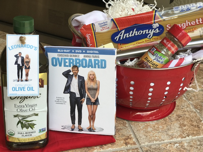 Blu-ray DVD OVERBOARD movie and spaghetti night giveaway