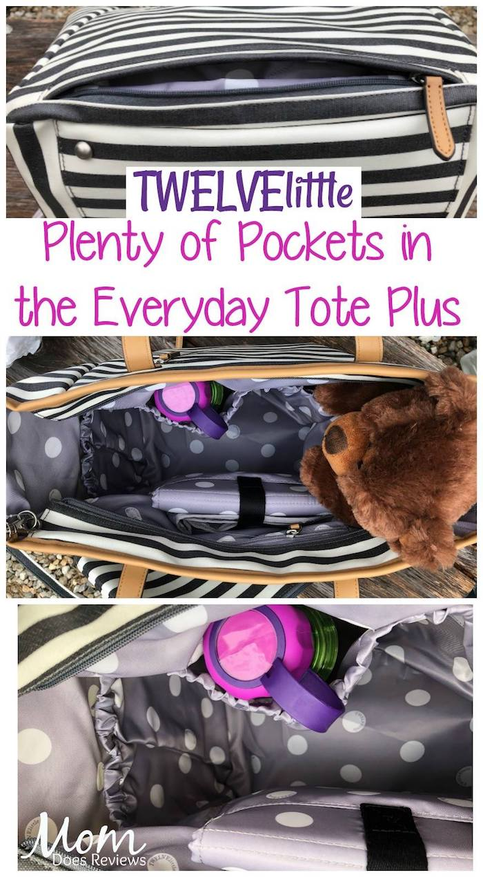 TWELVElittle tote plus with many pockets for convenience and travel