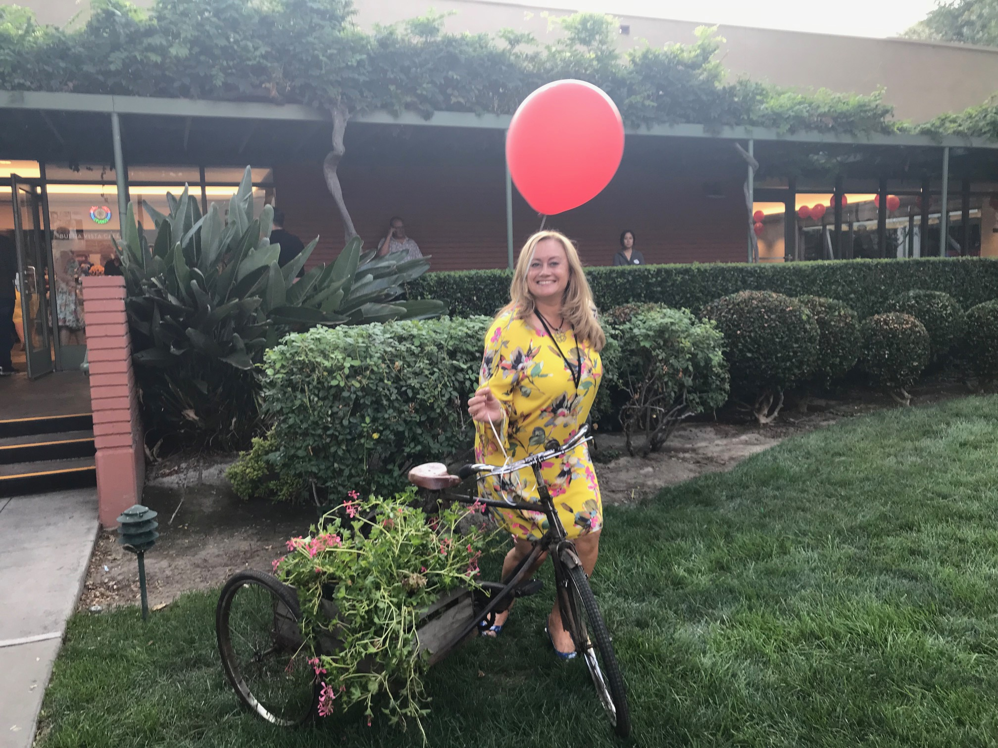 This bike is a prop reminding us about one of the scenes happening in the CHRISTOPHER ROBIN movie. Red Carpet Christopher Robin World Premiere
