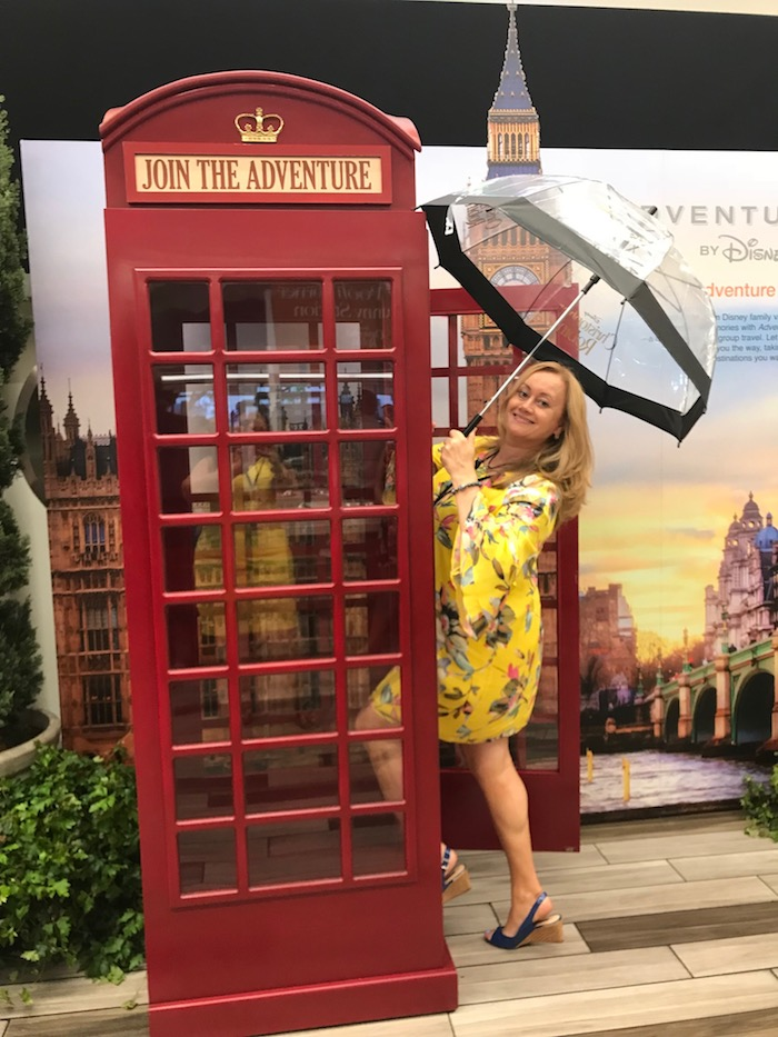 Be on the lookout for a Telephone Booth in the movie! One of the hilarious scenes happens right inside of it! I took a picture for my memories prior to the Red Carpet CHRISTOPHER ROBIN World Premiere event