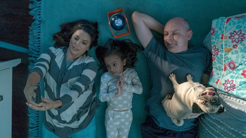 Eva Longoria as Grace, Elizabeth Caro as Amelia, and Rob Corddry as Kurt in Ken Marino's DOG DAYS movie