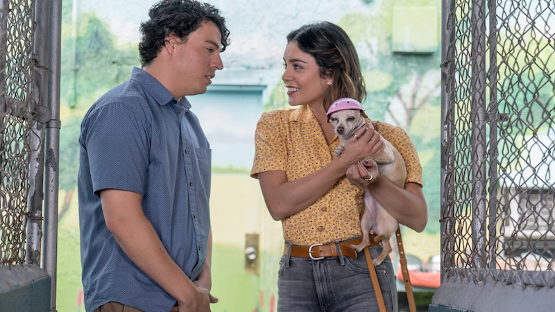 Jon Bass stars as Garrett; and Vanessa Hudgens stars as Tara; in Ken Marino's DOG DAYS movie