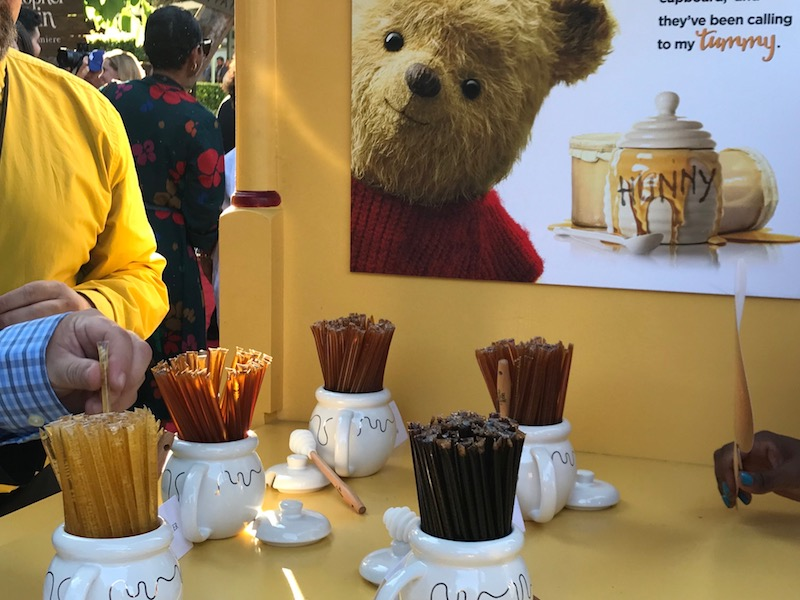 Pooh is the bear who loves #HONEY! We had plenty of it to taste and savor prior toRed Carpet Christopher Robin World Premiere