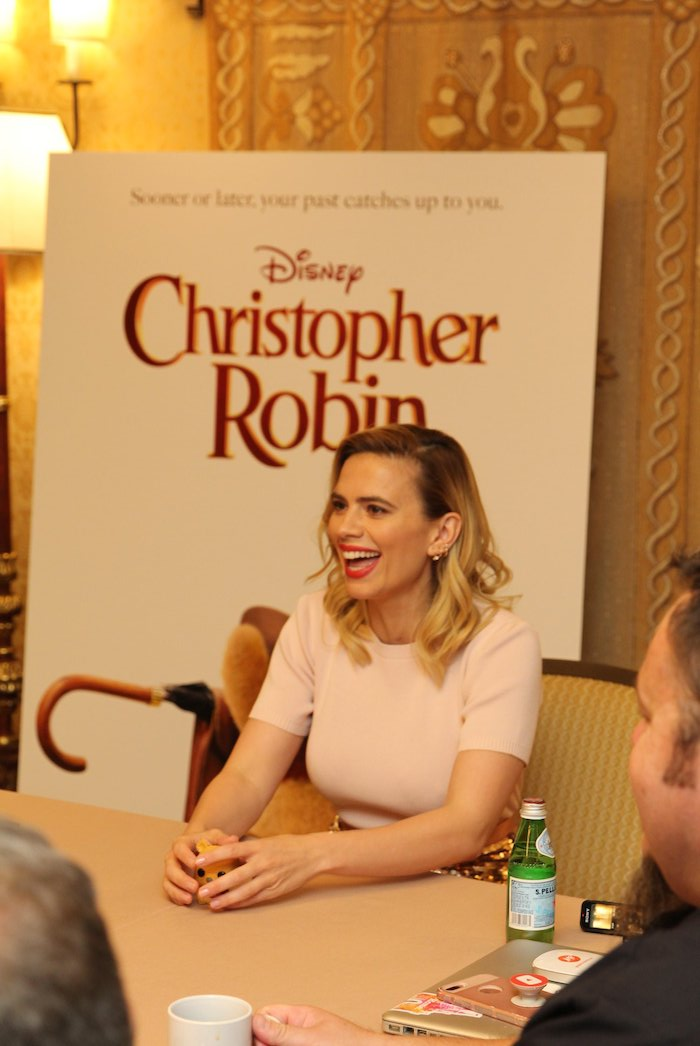 Interview With Hayley Atwell about her role as Christopher Robin's wife Evelyn
