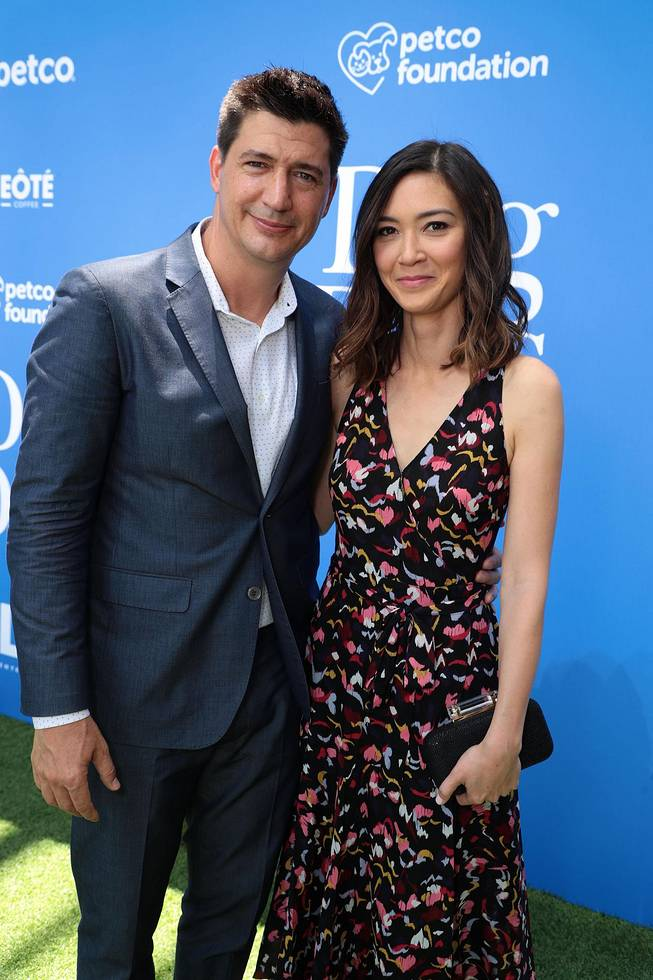 Director Ken Marino and Screen Writer Erica Oyama for DOG DAYS MOVIE Red Carpet event