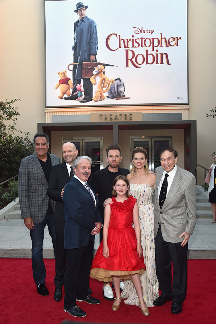 Red Carpet Christopher Robin World Premiere with Ewan McGregor, Hayley Atwell, Bronte Carmichael, Jim Cummings, Brad Garrett, Richard M. Sherman, Director Marc Forster