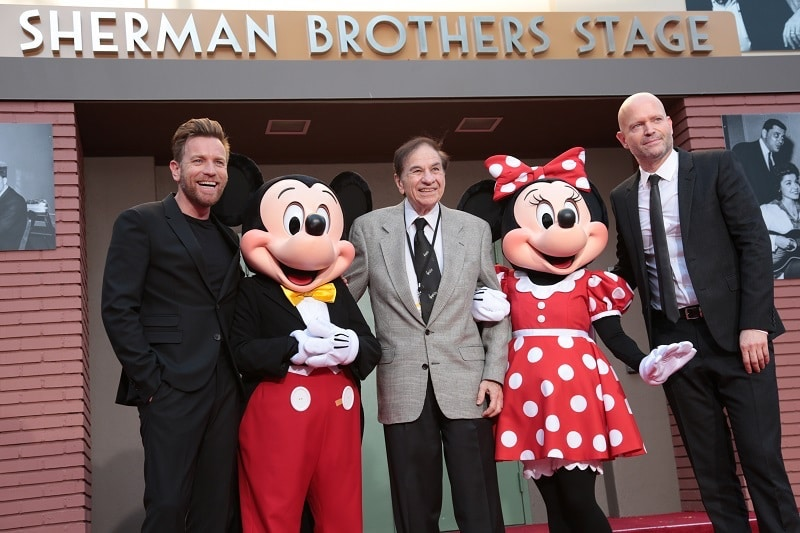 Sherman Brothers Stage dedication during Red Carpet appearance at CHRISTOPHER ROBIN World Premiere