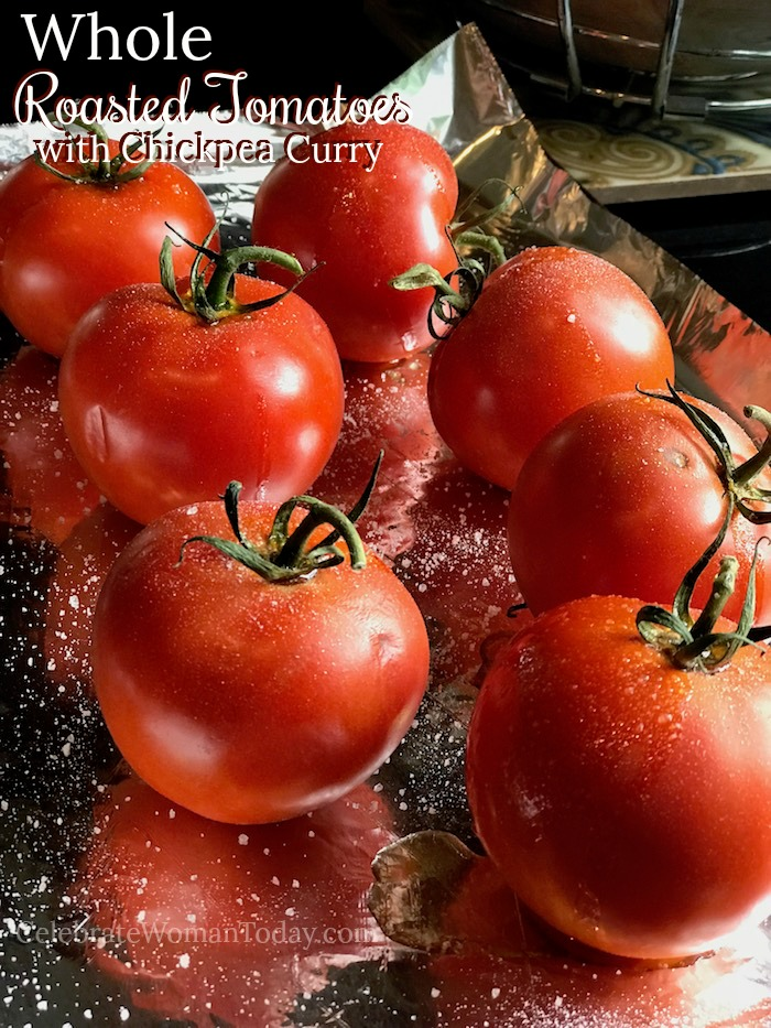 Learn about lycopene benefits and why you need whole roasted tomatoes in your regular diet and how to make the best easy chickpea curry with them. #roastedtomatoes #wholeroastedtomatoes #curry #chickpeacurry #lycopene