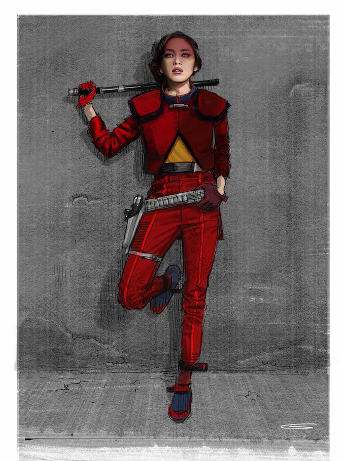 Concept Art for QI-RA creature in SOLO: A Star Wars Story movie