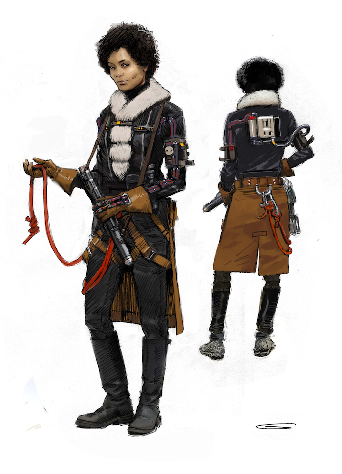 Concept Art for VAL creature in SOLO: A Star Wars Story movie