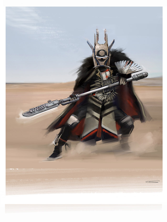 Concept Art for WARRIORS creature in SOLO: A Star Wars Story movie