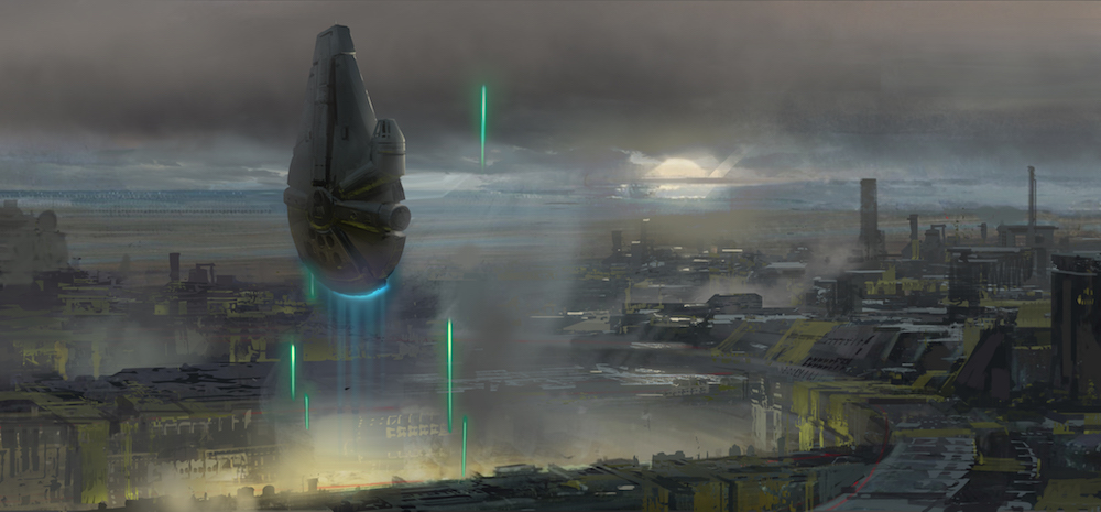 Millennium Falcon Concept Art is Fascinating for SOLO A STAR WARS STORY, Lucasfilm