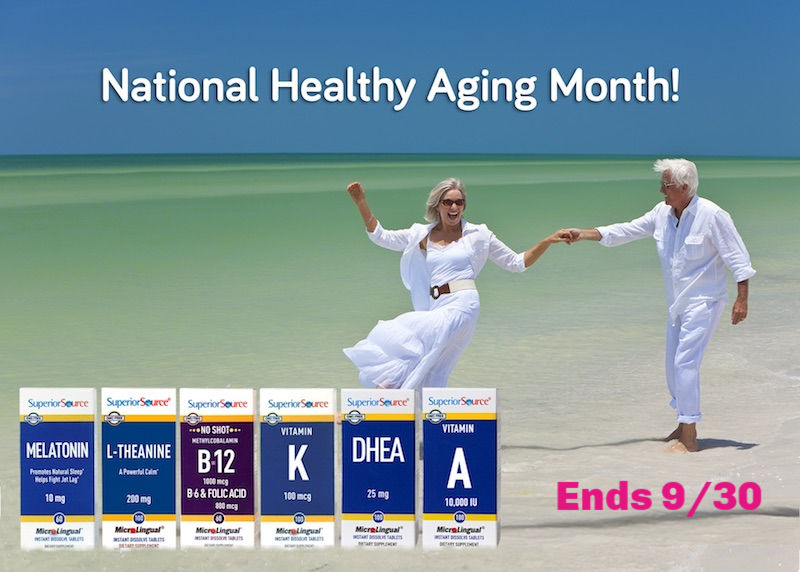 National Healthy Aging Month Superior Source Supplements and Vitamins