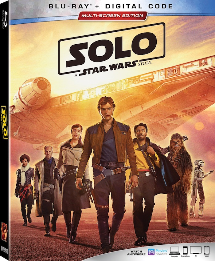 Blu-ray DVD release for SOLO A STAR WARS STORY, Lucasfilm