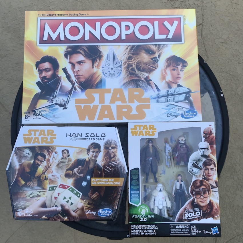 Han Solo Card Game and Star Wars MONOPOLY are amazing gift from SOLO: A Star Wars Story movie