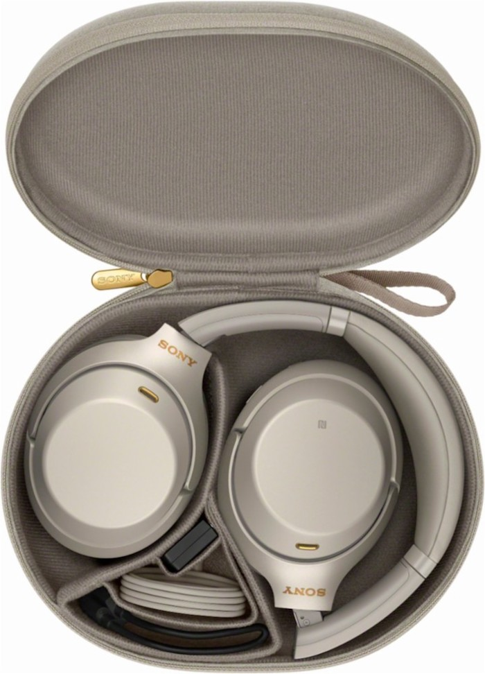 Holiday gift ideas SONY noise canceling headphones in Silver