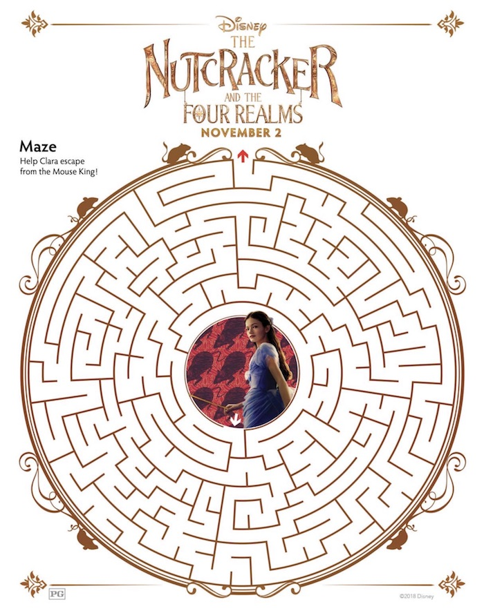 Disney Nutcracker Printables and Coloring Pages from THE NUTCRACKER AND THE FOUR REALMS
