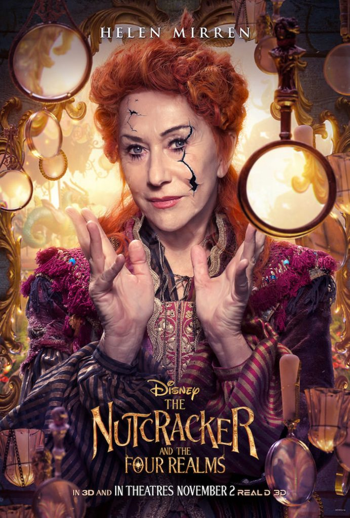 Helen Mirren plays MOTHER GINGER in Disney movie The Nutcracker And The Four Realm