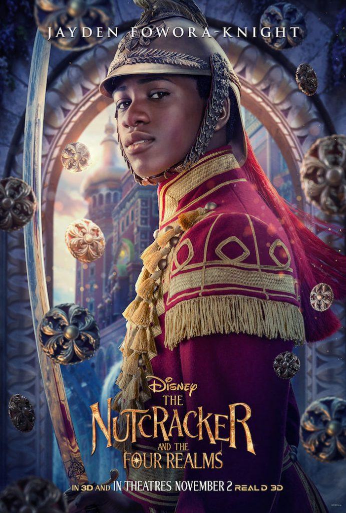 Jayden Fowora-Knight plays PHILLIP in Disney movie The Nutcracker And The Four Realms