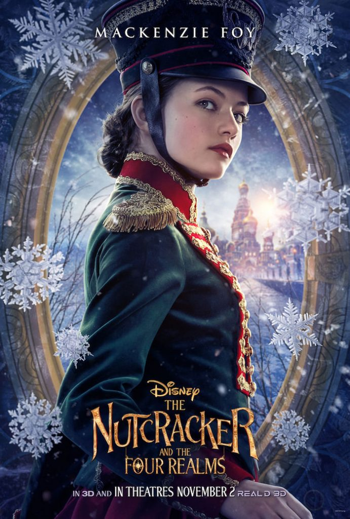 Mackenzie Foy plays CLARA in Disney movie The Nutcracker And The Four Realms