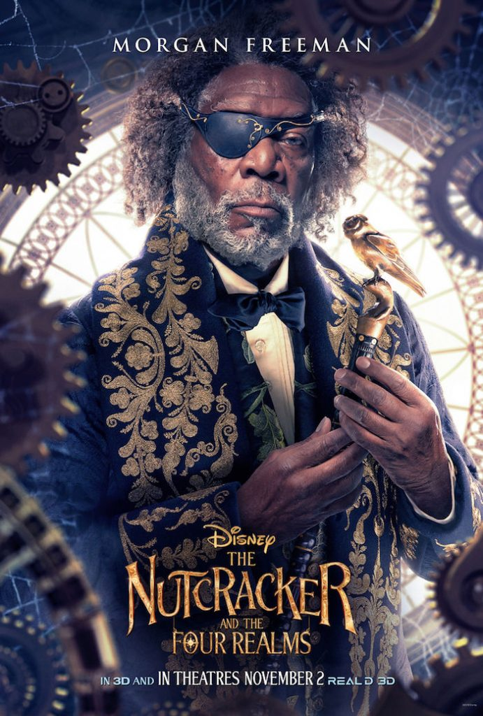 Morgan Freeman plays DROSSELMEYER in Disney movie The Nutcracker And The Four Realms