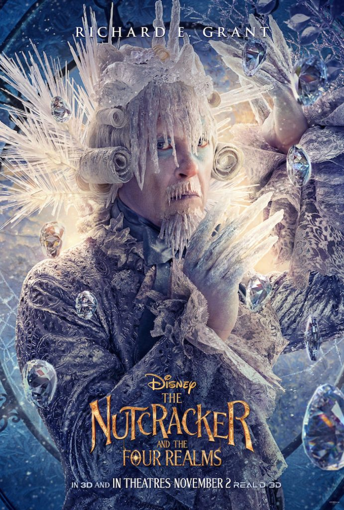 Richard E. Grant plays SILVER in Disney movie The Nutcracker And The Four Realms