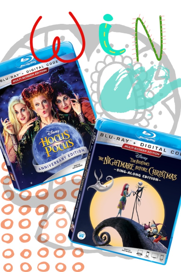 Hocus Pocus Blu-ray DVD and The Nightmare Before Christmas Blu-ray Sing-along Edition