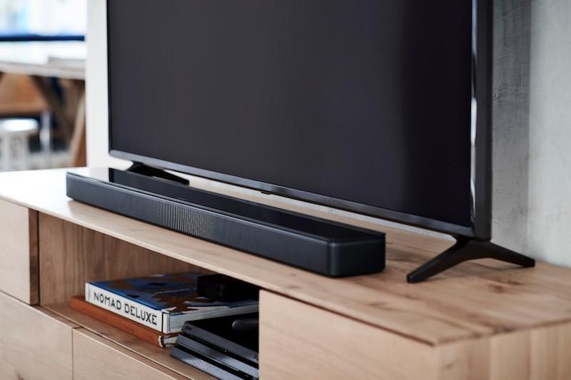 BOSE Soundbar provides powerful acoustics for family movie night