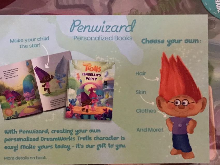For a child who loves TROLLS THE BEAT GOES ON, here it is a customized book to make at Penwizard!