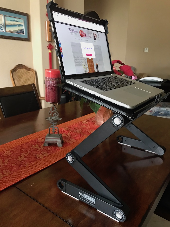 Ergonomic Laptop Stand is portable and can be a great accommodation to your day when you are sitting too much.