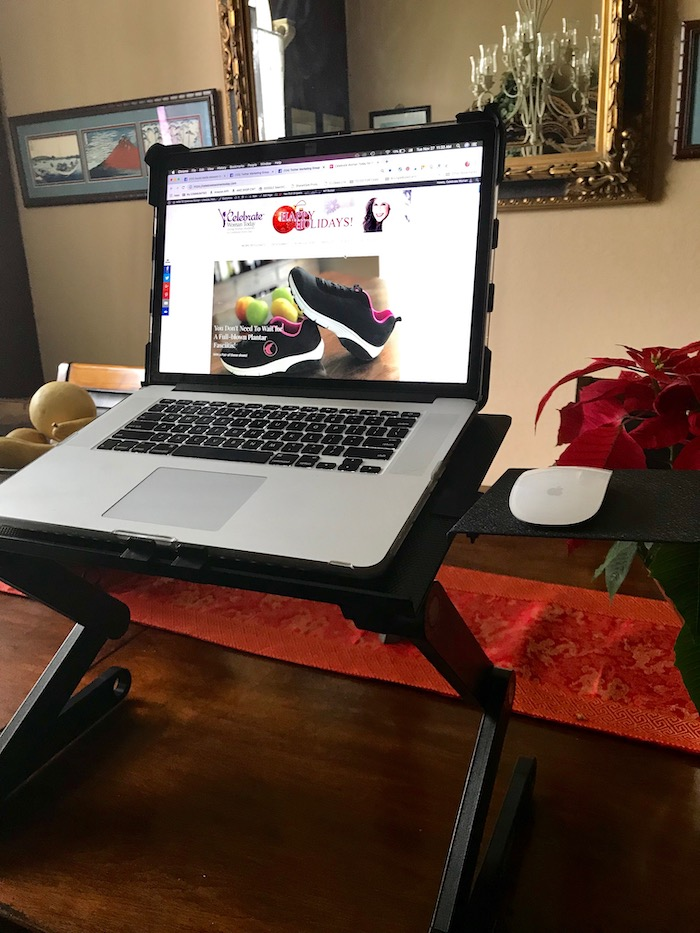 Are you sitting too many hours every day without getting active? Here are some tools to get you off your butt and getting healthy. Ergonomic Laptop Stand is portable and can be a great accommodation to your day.