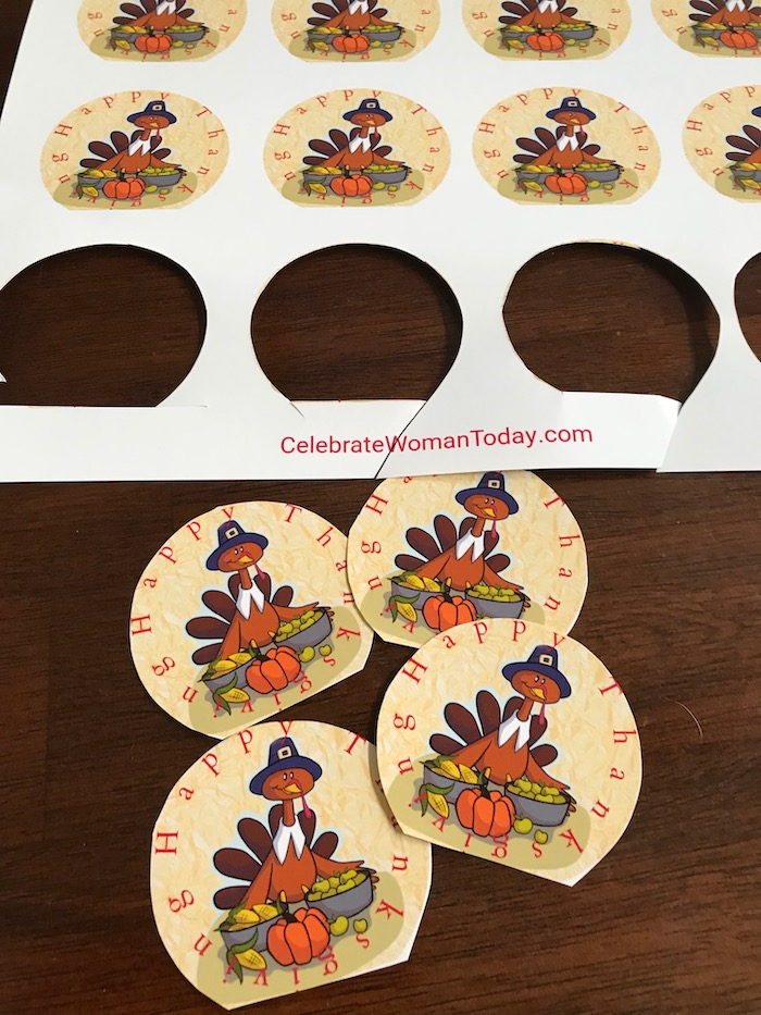 Easy and affordable turkey for your cupcake recipe. Let these cute turkeys adorn your cupcake desserts! Download this FREE printable turkey cupcake toppers.