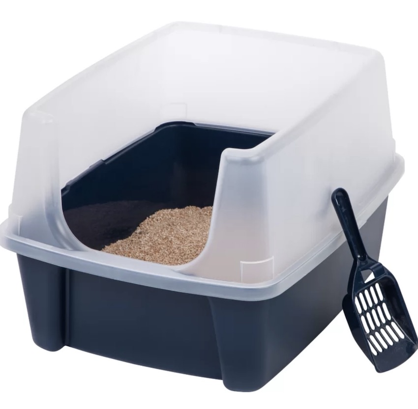 This inexpensive cat litter box is priceless! Holgate litter box with extra tall shield will save you time and effort when cleaning after your cat!