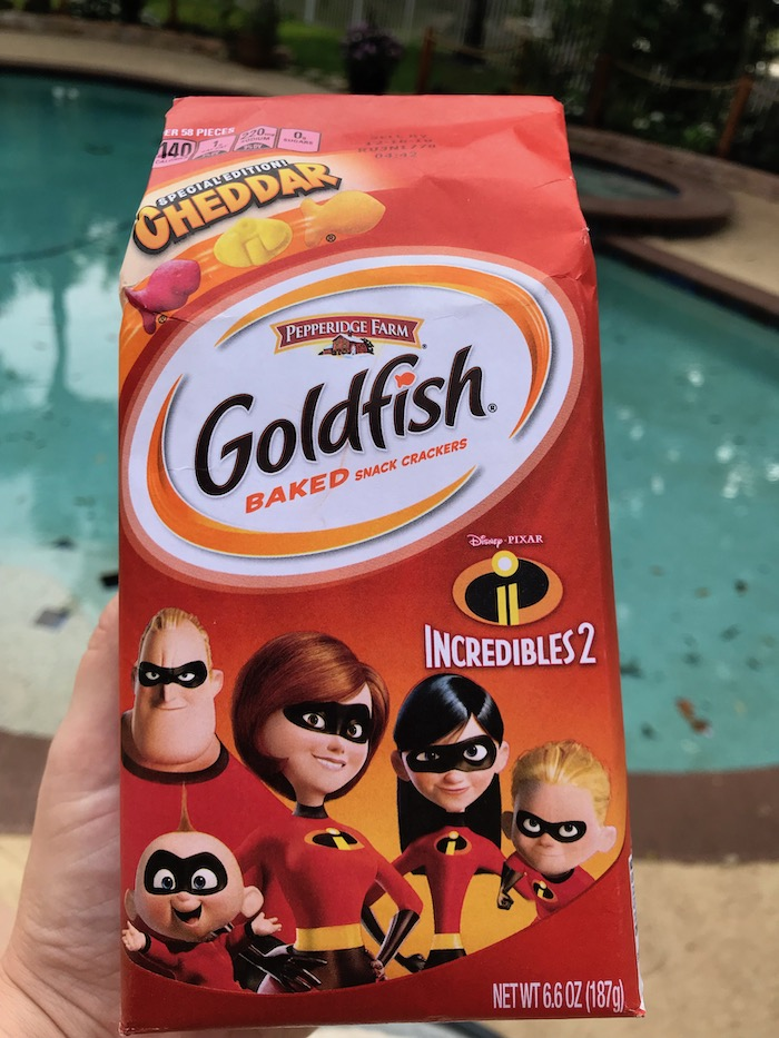 Goldfish Disney Pixar Incredibles 2 Special Edition! Pepperidge Farm Cheddar Baked Snack Crackers