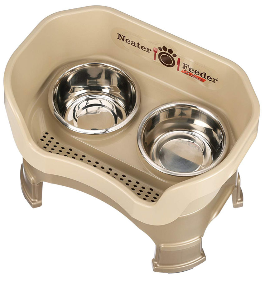 Neater Feeder is a unique feeding station for dogs or cats. It adds to one of the Fun Solutions to make home more pet-friendly.