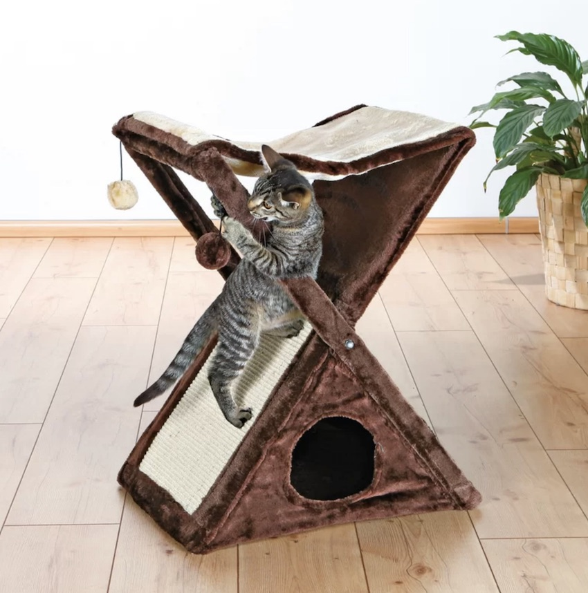 If you have a limited space in your home for pet furniture, this Giselle cat tree will not take up a ton of space! And your feline friend will be happy, too. This inexpensive pet product will become one of your Fun Solutions to make home more pet-friendly.