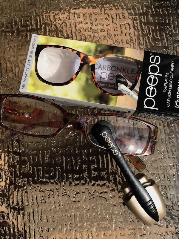 This carbon eyeglass cleaner leaves the inside and outside of your lenses smudge- and oil-free every time. Remove dust with the included brush, then let the facing carbon pads wipe off oils and smudges—even in the most difficult corners #eyeglasses #sunglasses #cleaning #glasses #celebratewoman