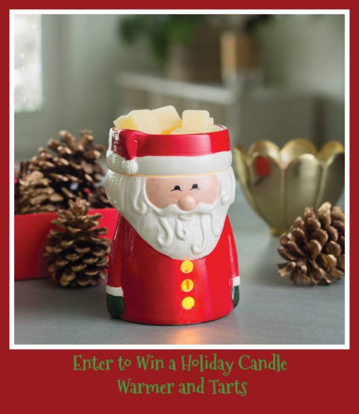 Part of lifting up my mood is filling my home and my heart with delightful scents and sights of the holiday season. That is why I absolutely love this Santa Claus Illumination warmer and melting tarts.