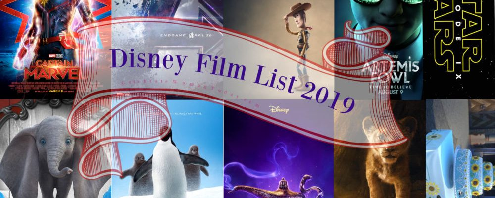 2019 Walt Disney Studios Motion Pictures Slate Is FASCINATING!