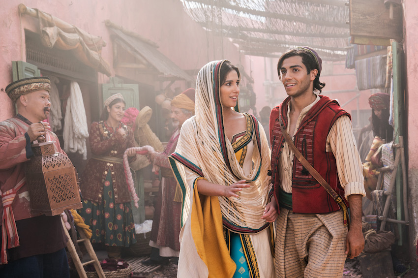 Aladdin and Princess Jasmine at Agrabah market