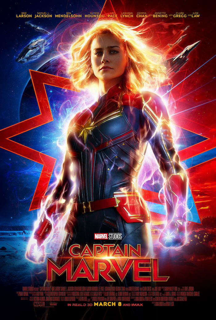 CAPTAIN MARVEL is a new Marvel's movie with a stellar cadre of women. #CaptainMarvel
