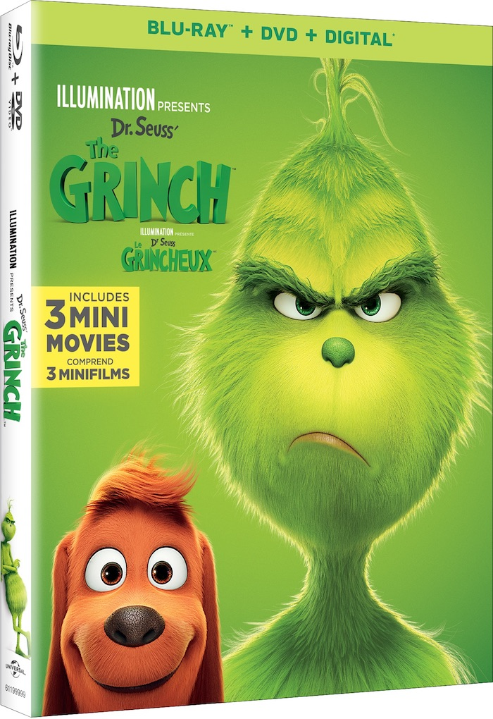 The GRINCH blu-ray DVD with 3 mini movies