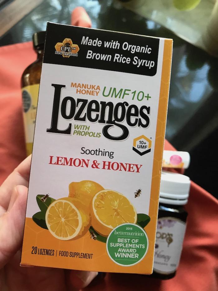 lozenges with manuka honey UMF 10 for skin infections