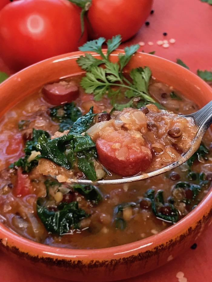 sausage lentil soup instant pot